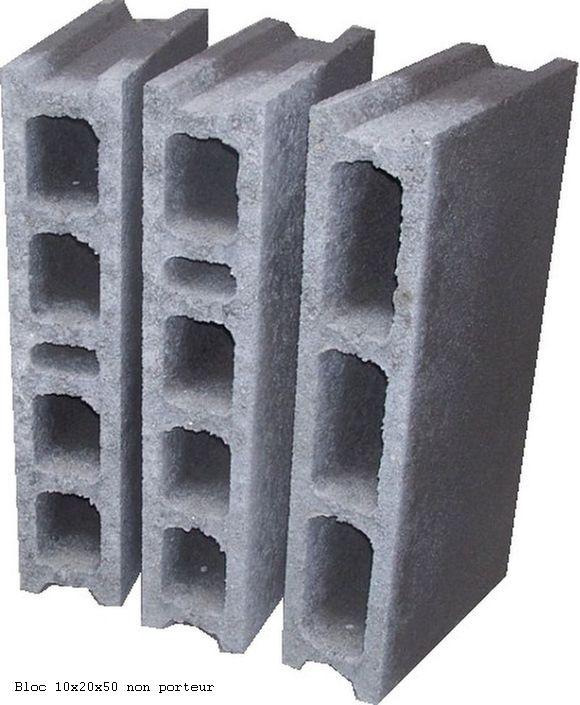 Blocs de 10x20x50