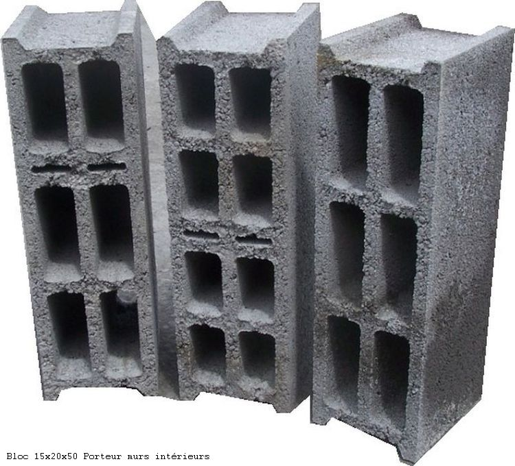 Blocs de 15x20x50 Porteur