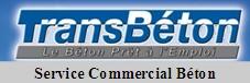 Transbeton, service commercial béton