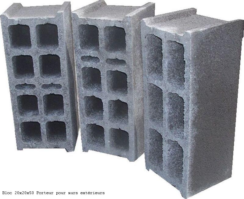 Blocs de 20x20x50 Porteur